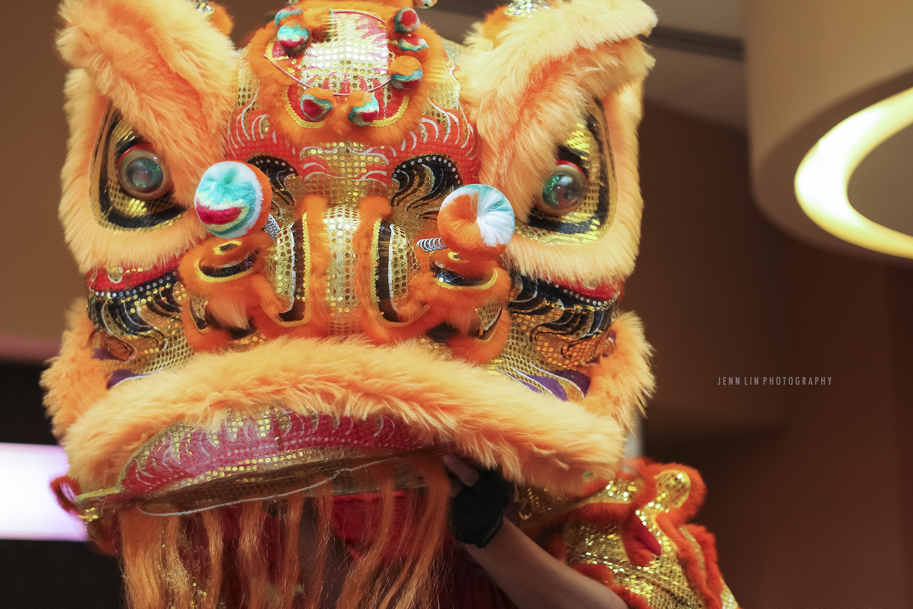 Traditional Chinese Lion Dance at Kirin Seafood Restaurant in New Westminster, BC © 2013 Jenn Lin Photography