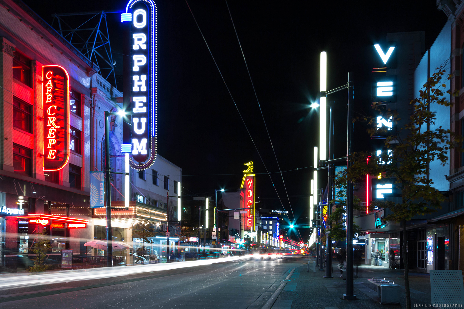 On Granville Street in Vancouver, BC