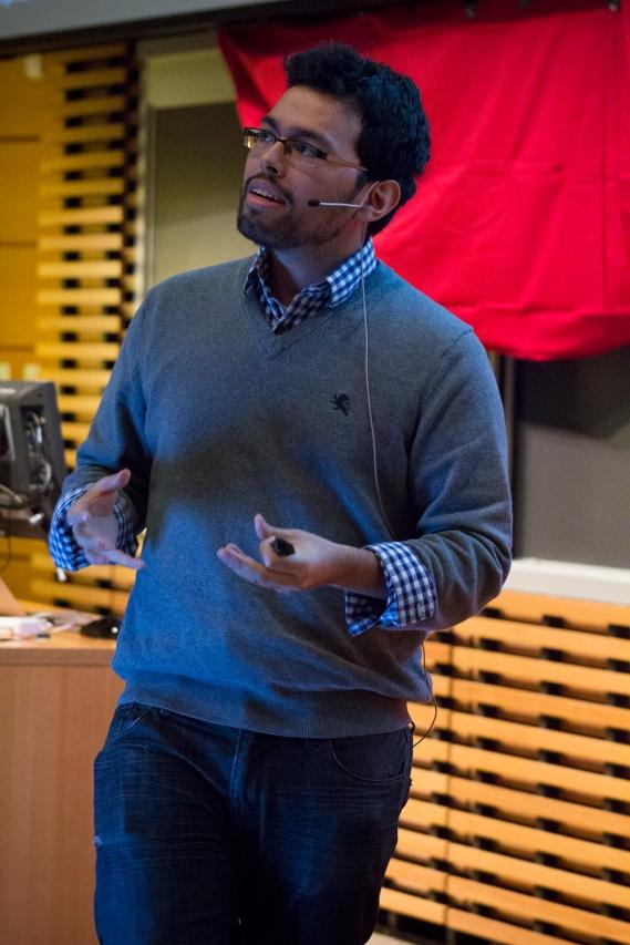 Emmanuel Fonseca at TEDxTerryTalks 2013, Photo by Jenn Lin