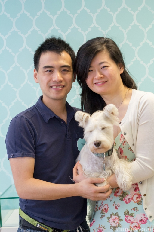 Victor Lam and Patricia Song, owners of Pet Parlour