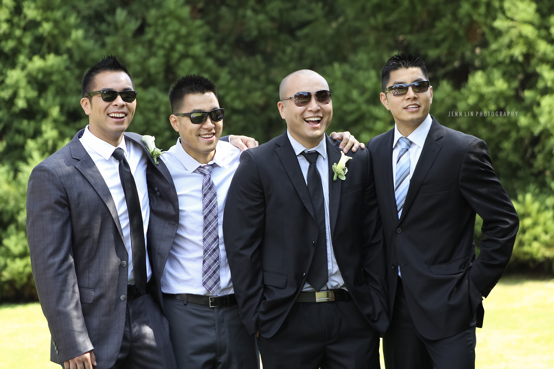 "4 Men in Suits; ""Men's Club"" © 2013 Jenn Lin Photography"