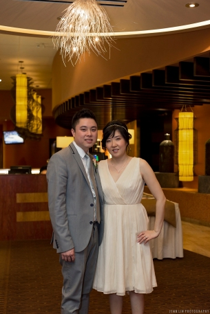 The newly weds at the reception (Kirin Seafood Restaurant in New Westminster) © 2014 Jenn Lin Photography