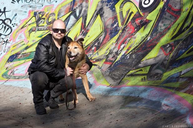 graffiti, skate park, richmond, bc, portrait photographer, dog