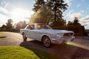 Ford, Mustang, Vintage, baby blue, light blue, sky blue, car, car photoshoot, car shoot, sunset