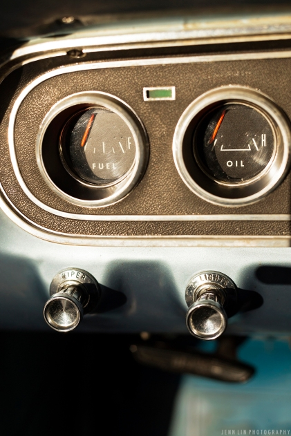 Ford, Mustang, Vintage, fuel, oil gauge, baby blue, light blue, sky blue, car, car photoshoot, car shoot